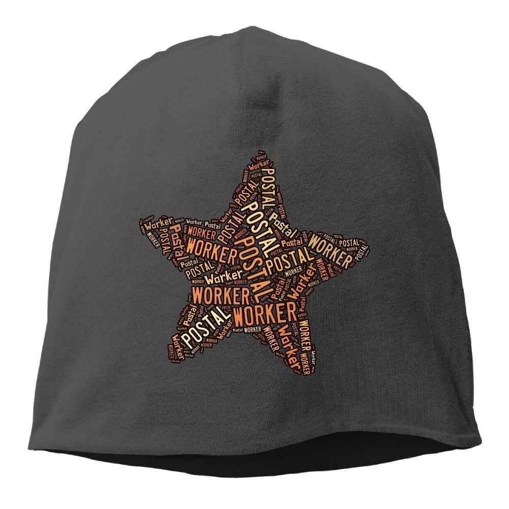 Unisex Postal Worker Five-Pointed Star Knit Beanies Hat, Hip-Hop Skull Cap, Slouchy Beanie, Watch Cap, Chemo Hats, Head Wrap For Women & Men