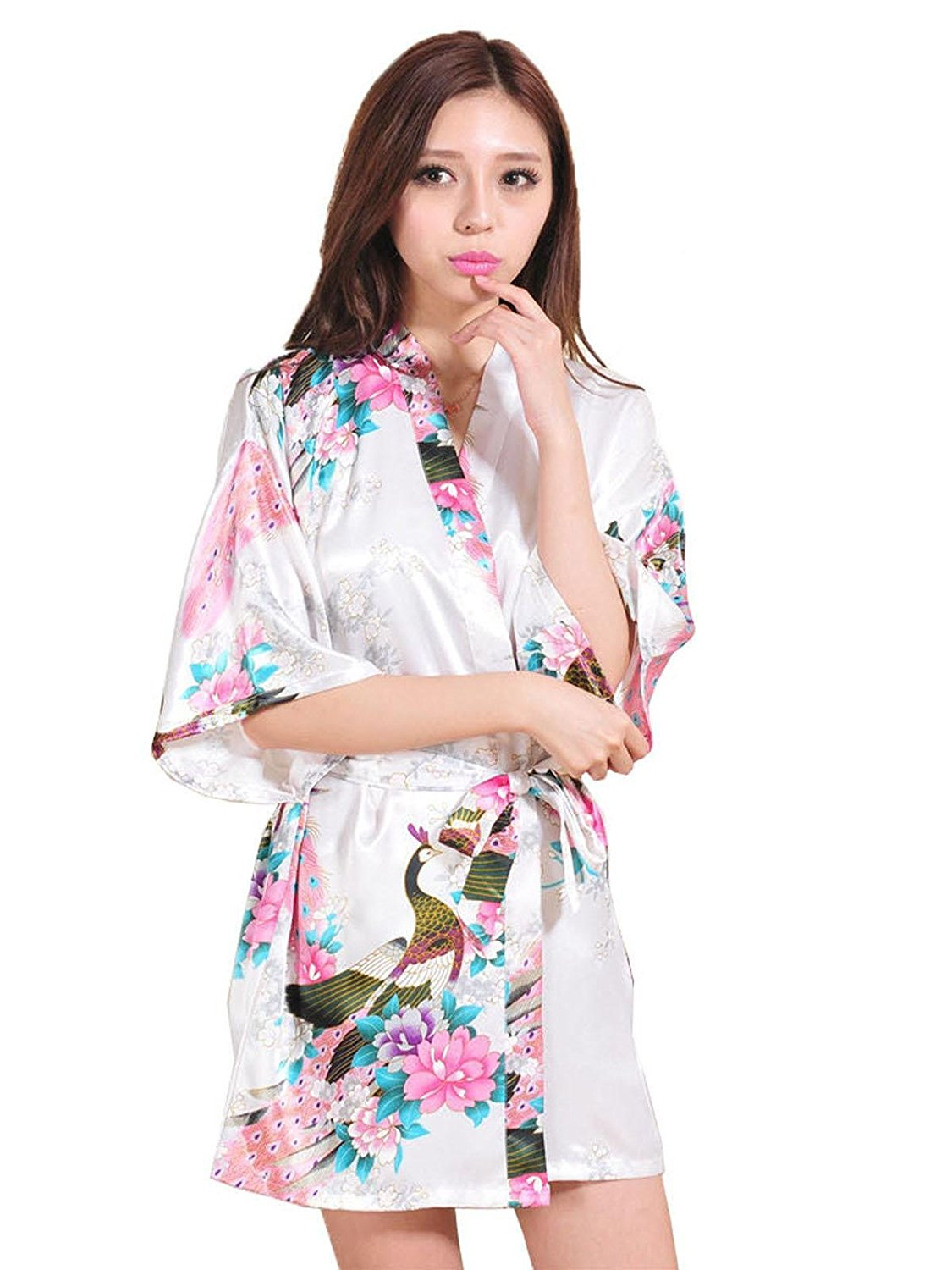 Get Quotations · Oguine Nightwear Robes Pajama Robes Sleepwear Robes Women Robes  Satin Robes V-Neck Robes Robes 4cfdf9e6d