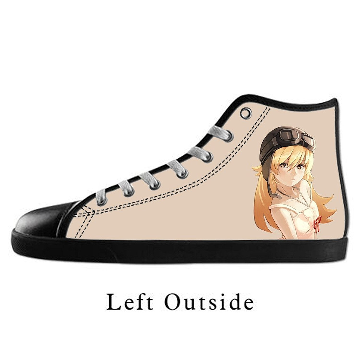 Buy Custom Women Anime Girl Drawing Canvas Shoes High Top