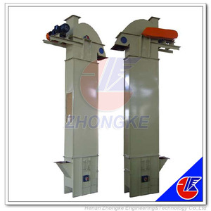 Vertical Bucket Elevator System for Ore block, Gravel, Construction Aggregate Hoppers