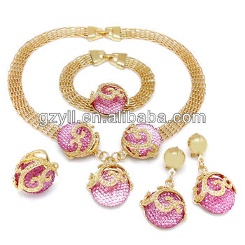 African Wedding Jewelry Set Gaudy Costume