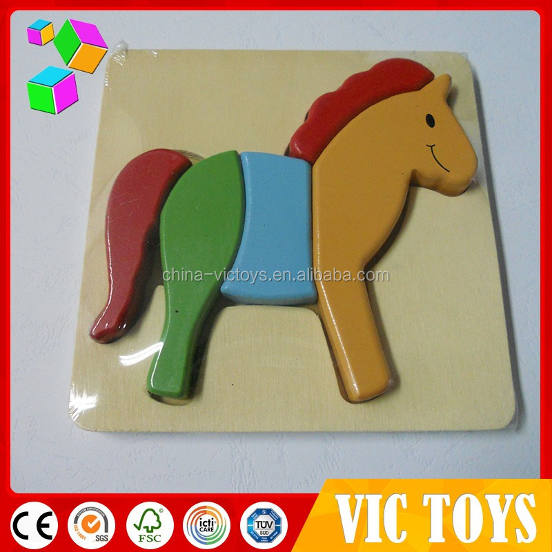wooden horse puzzle, wooden block puzzle, wooden toys and hobbies