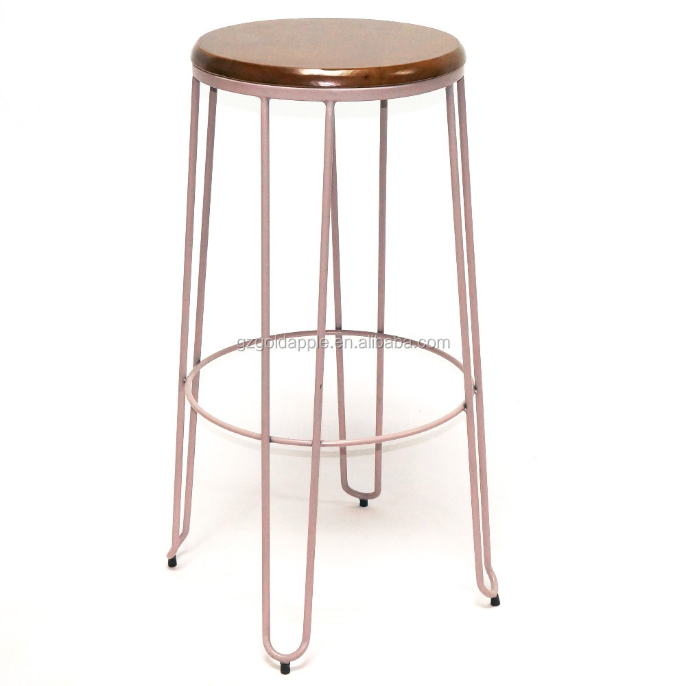 Modern Appearance Furniture Metal Wire Bar Stool Iron High