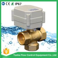 12 volt 3-way electric motorized ball valve