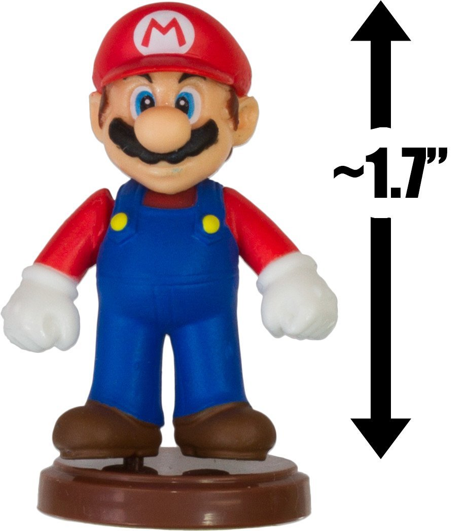 "Mario: ~1.7"" New Super Mario Bros. Wii Choco Egg Mini Figure Series [NO CANDY] (Japanese Import)"