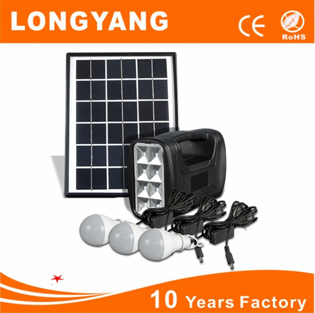 Portable Gd 4w Mini Solar Lighting Kit Indoor Light