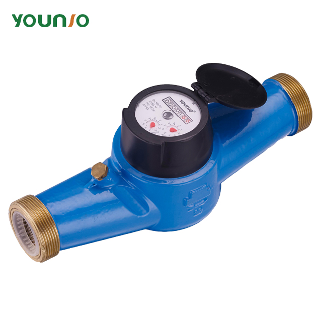 "Younio Multi Jet Dry Dial Brass Body Class B 1/2"" Bypass Water Meter LXSG-15E-50E"