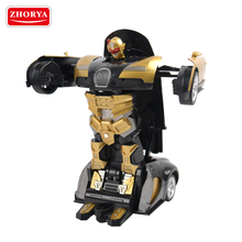 Zhorya 1:14 scale children luxury golden rechargeable battery deformation robot plastic toy remote control car