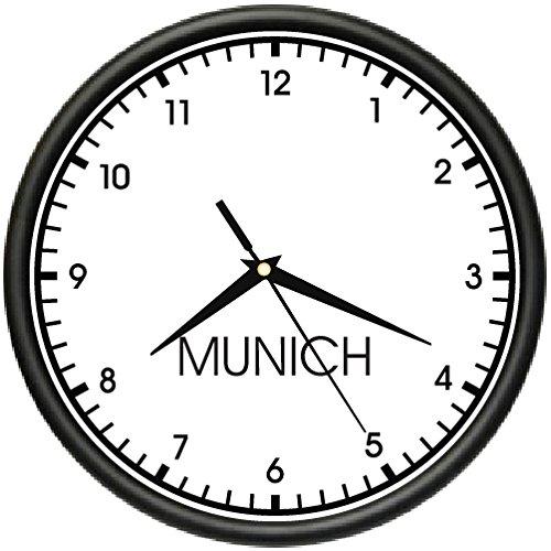 MUNICH TIME Wall Clock world time zone clock office business