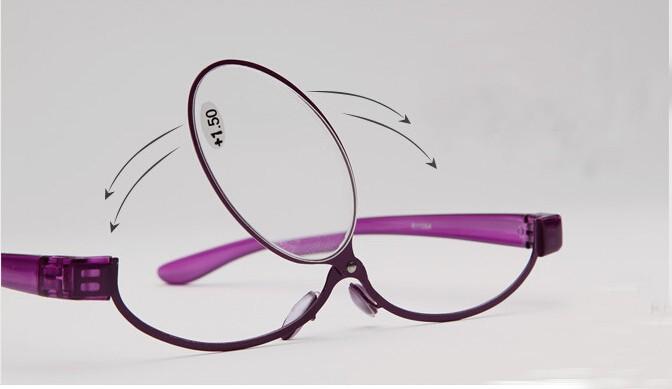 Magnifying eye makeup glasses