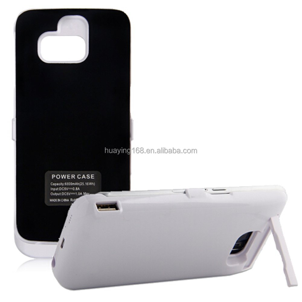 6500 Mah External Backup Battery Charger Cover for Samsung Galaxy S7 Rechargeable Power Bank Case
