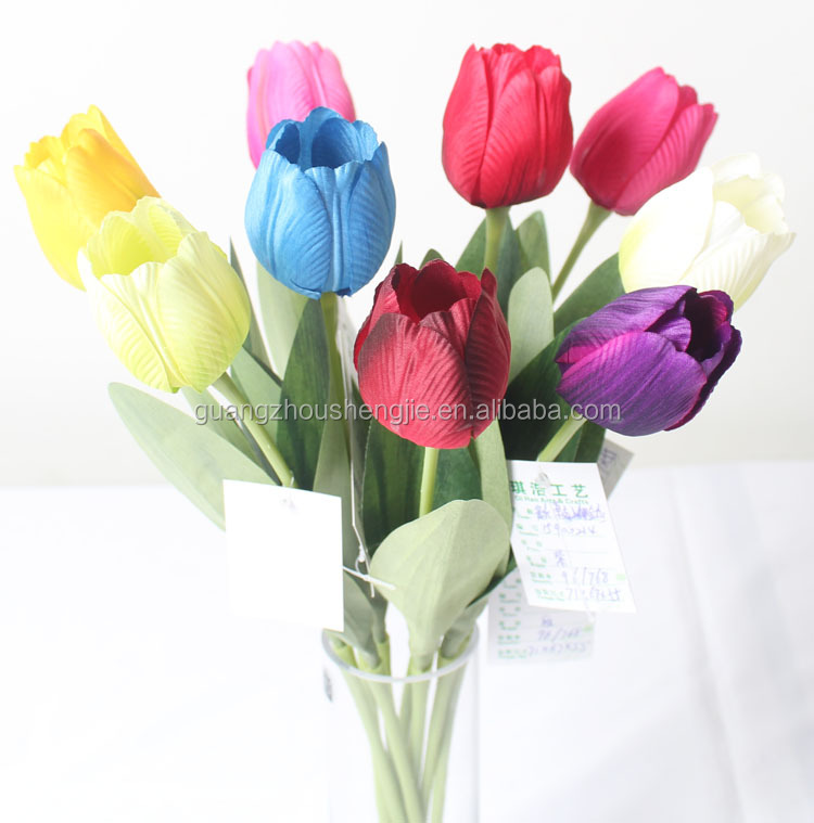 CHY013830 High quality real touch tulip/ PU decoration flower/artificial tulip flower