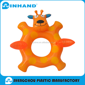 Eco Friendly Pvc Inflatable Giraffe Swimming Ring, Pool Float Swimming Tube