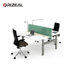 Office 2 Person Uplift Computer Double Workstation Adjustable Height Writing Desk/table