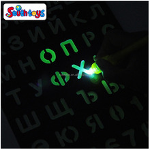 Invisible Disappearing Ink Pen Glow in The Dark Kids Magic LED Pen Writing Drawing Board