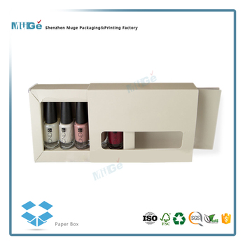 Creative Drawer Shape Paper Nail Polish Packaging Boxes