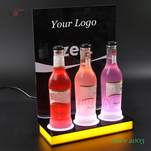 China Factory Full Color LED Wine Bottle Holder LED XO Display Stand Lighting Up LED Bottle Glorifier
