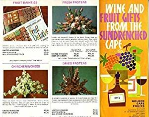 Golden Cape Fruits Company Brochure Cape Town South Africa 1970