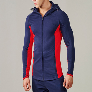 f8963a2c2 2018 hot selling hoodies for men clothing sportswear fitness muscle zip  front apparel custom crop top