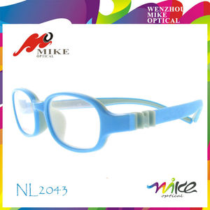 Rubber kids optical frames brand eye wear with changeable temples