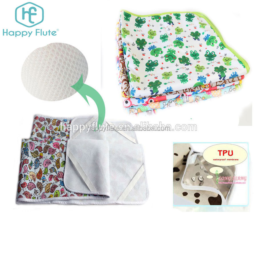 baby waterproof baby diaper changing mats urinal pads factory OEM custom print
