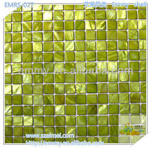 2012 new design dyed green China freshwater mother of peal river shell mosaic wall tile