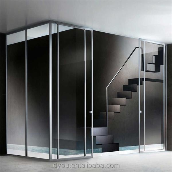 Exterior frameless glass doors