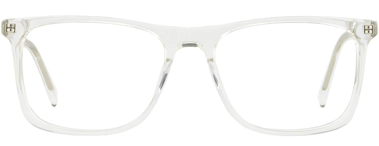 7bfa990f19d7 Get Quotations · Clear Translucent Large Wide Plastic Mens Womens Frames  Eyeglasses Spring Hinges