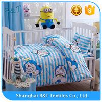 Top quality Newly 100% cotton children quilt Doraemon cat comforter sets crib bedding sets