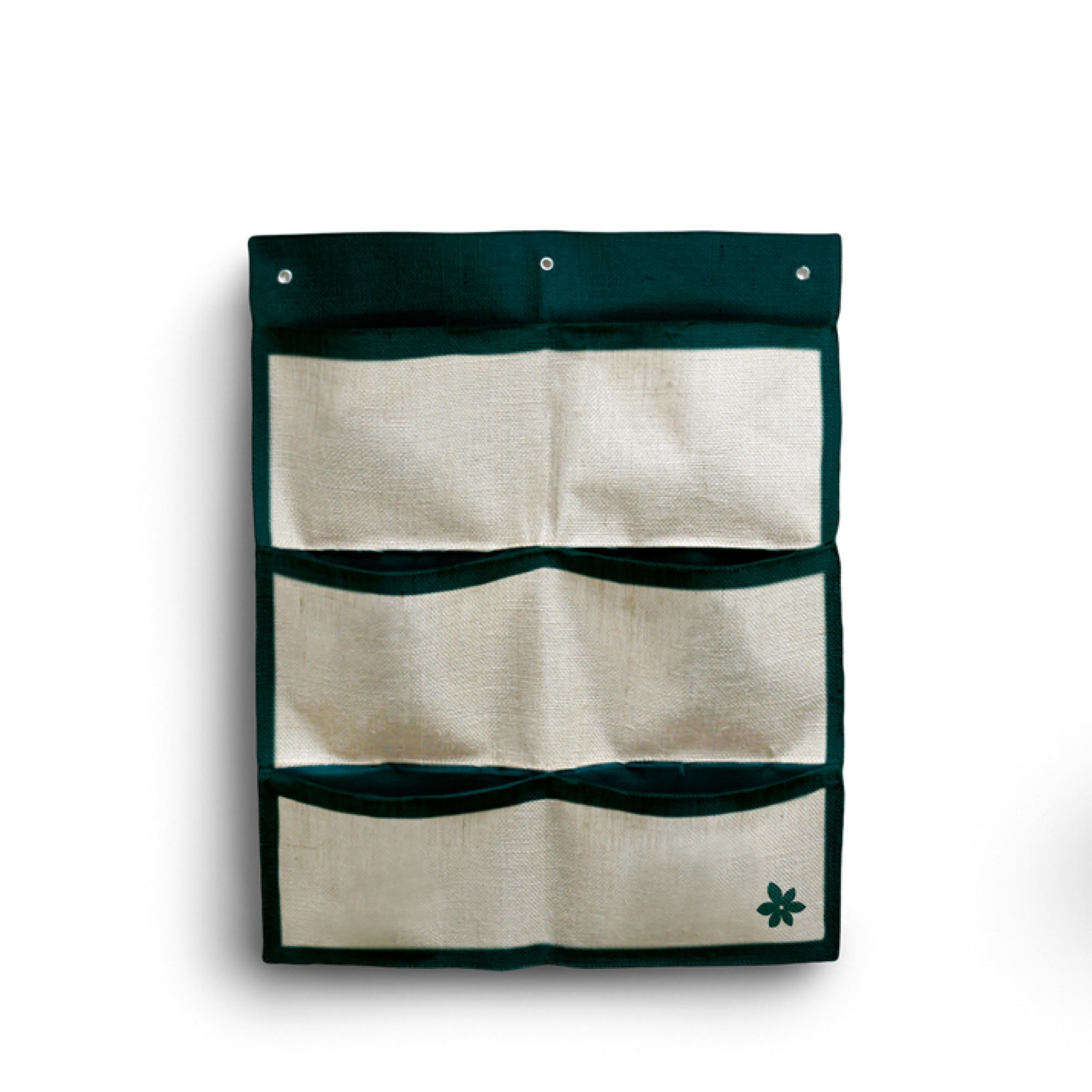 FACTORY MADE.6 POCKET PE AND JUTE MATERIAL GARDEN WALL HANGING PLANTER GROW BAG.JUTE VERTICAL PLANTER