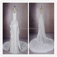 Wedding Gowns 2017 Bridal A-line Lace Wedding Dress Sweetheart Neckline
