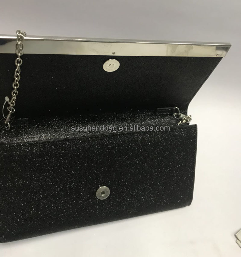 Black Shiny Ladies Evening Bag Women Clutch