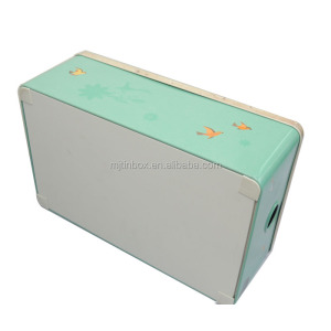 Rectangle Kitchen Food Storage Tin Tea Sugar Cookie Cupcakes Box storage tin box