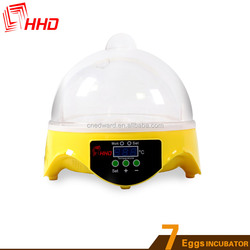 HHD 7 egg incubator for children suit chicks hatching machine CE approved hatcheries eggs for sale