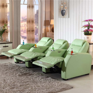 Japan Home Theater Multi-positio Leather Reclining Chair Sofa with footrest