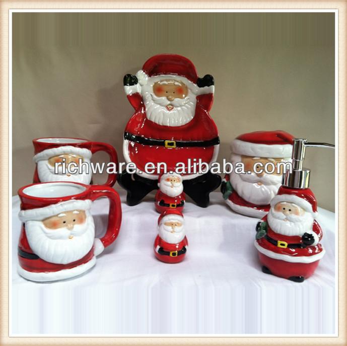 Accesorios De Baño Ceramica:taza, Plato de accesorios de baño set-Suministros de Decoración de