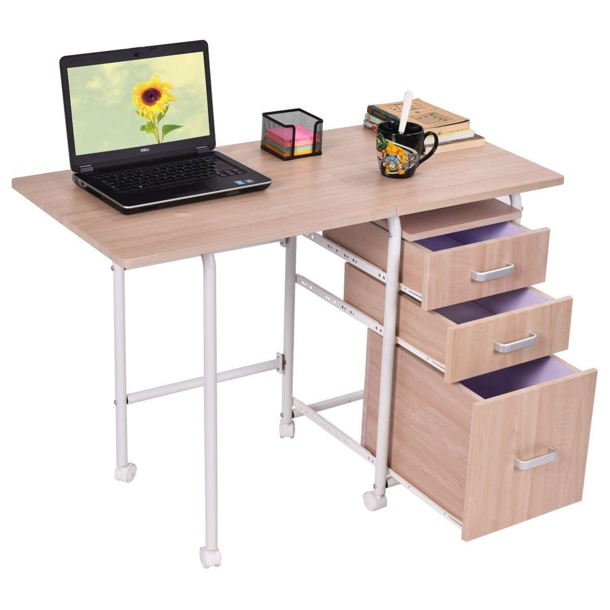 Folding Desk With Drawers Find
