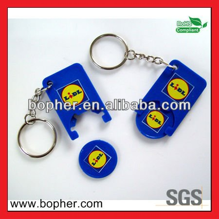 new designed mini customized trolley coin keychain