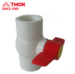 Manufacturer PVC Plastic Male Thread Ball Valve 1/2'' Tube Plastic Quick Connect Shut Off Ball Valve