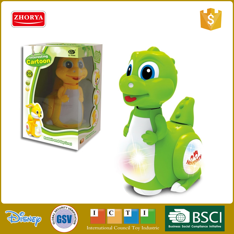 battery operated walking plastic mini dinosaur toy