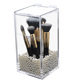 custom clear acrylic cosmetic brush holder organizer with lid