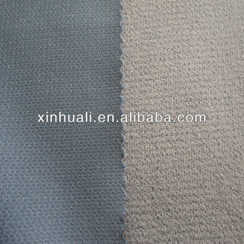 knitted honeycomb suede fabric for sofa cover