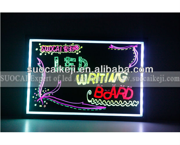 POP Up Poster Display Stand LED Writing Board