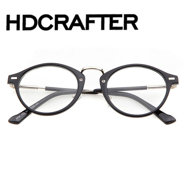 Wholesale fashion acetate big round frame spectacle vintage round ...