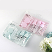 verified supplier 6pcs eco-friendly portable 7days airline travel bottle set cosmetic travel kit for gift