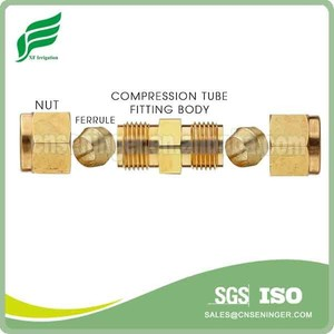 Brass Swagelok compression Union fitting