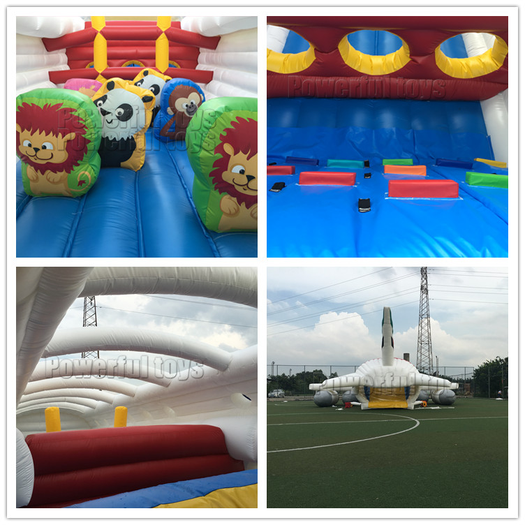 New  airplane inflatable obstacle course amusement park
