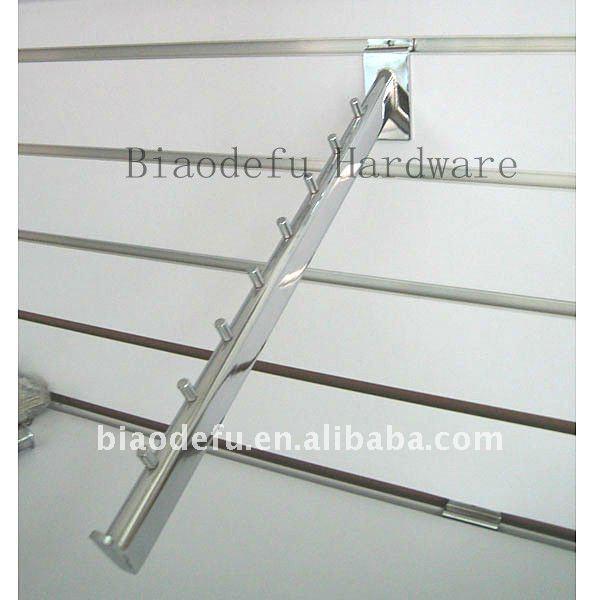 Inclinada gancho de la capa ropa de escaparates ganchos de for Ganchos metalicos para colgar ropa
