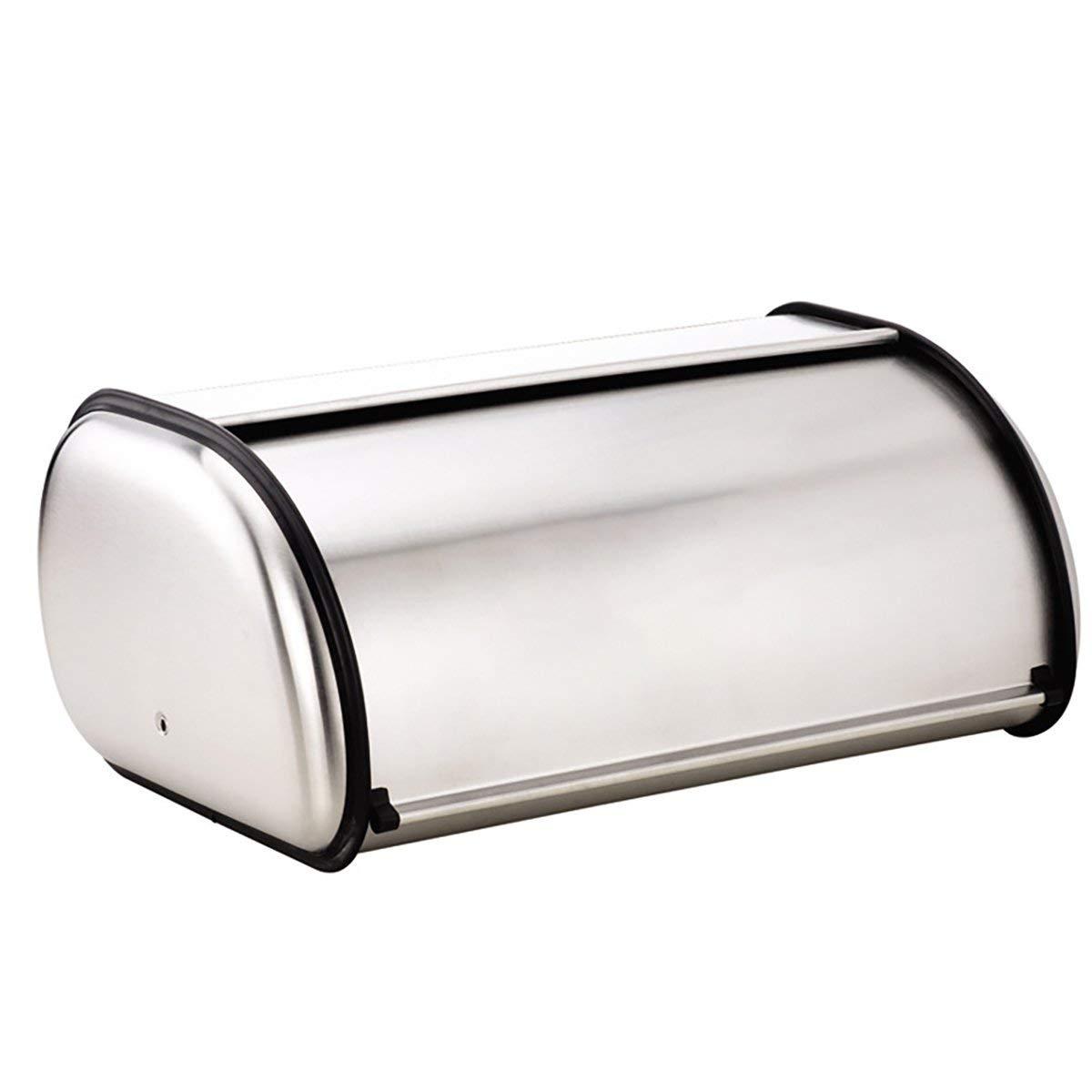 1pc Stainless Steel Bread Box Bin Storage Holder For Kitchen
