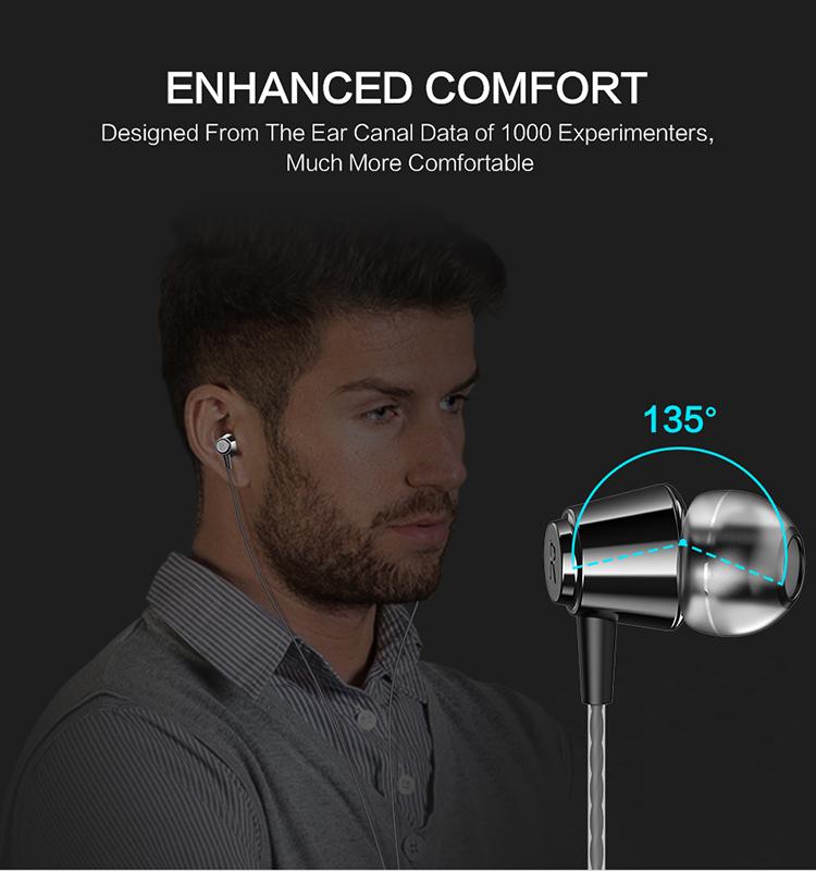 Free Shipping Hifi Earphone with Mic FLOVEME 1.2m Durable Elastic Cable 3.5mm Audio Plug 135 degree Design Sound of Nature